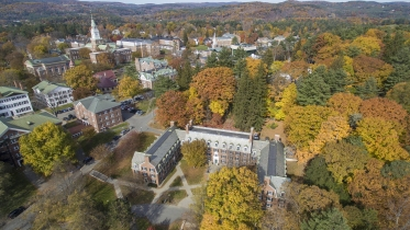 Aerial of Dartmouth College Campus
