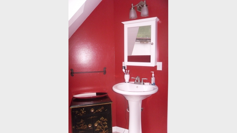 This is a photo of the upstairs bath.