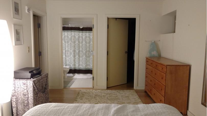En suite bedroom and bath