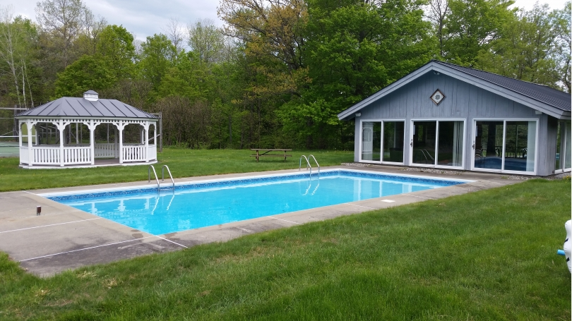 Pool Pool House and Gazebo