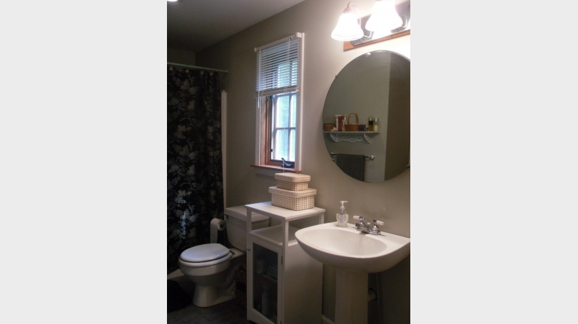 This is a photo of the master bath.