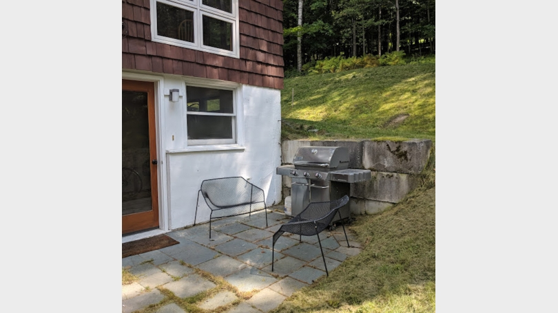 gas grill and patio for tenant use