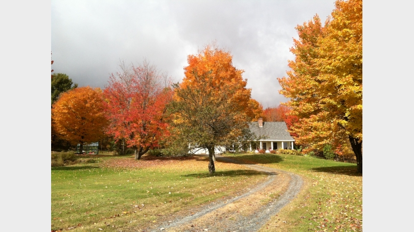 House exterior shown in Spectacular Autumn Colors