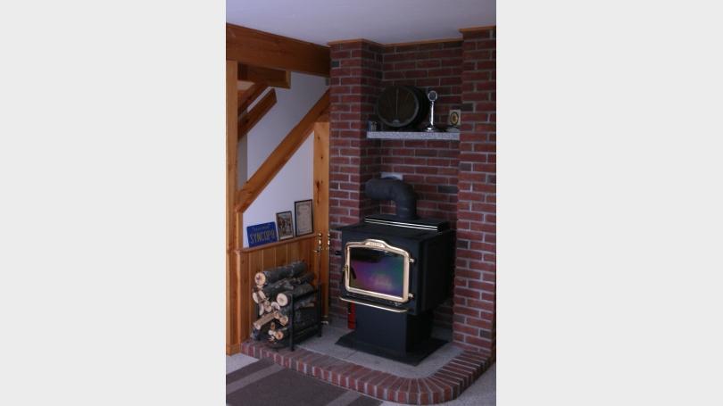 Wood stove - finished basement