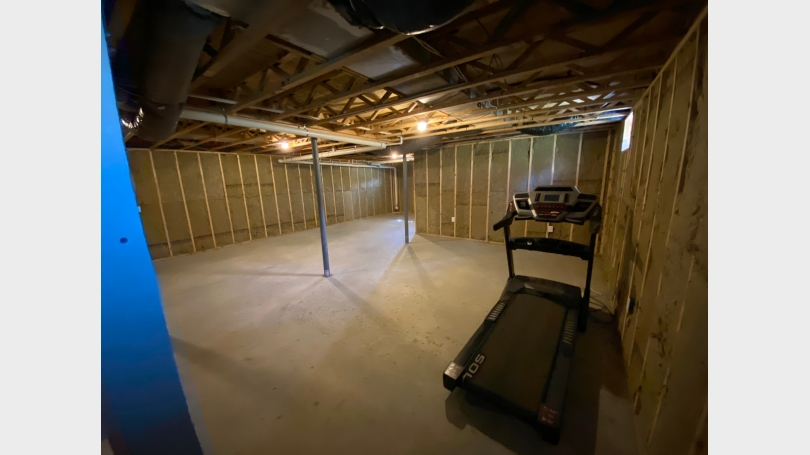 Unfinished basement space