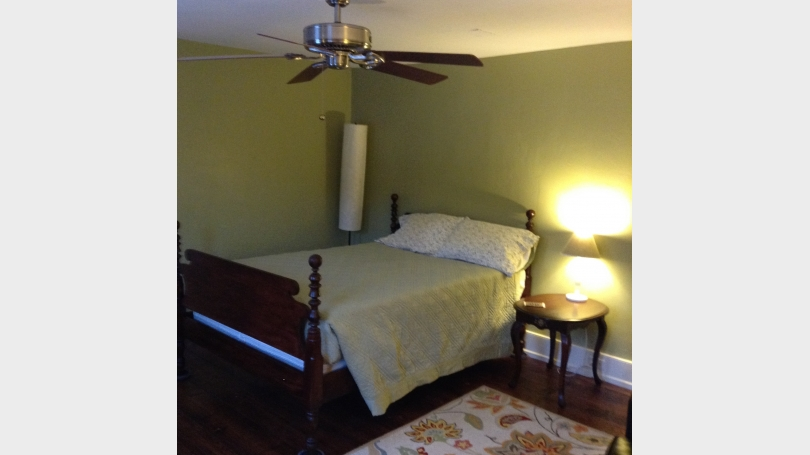 Double Bed with Linens and pillows