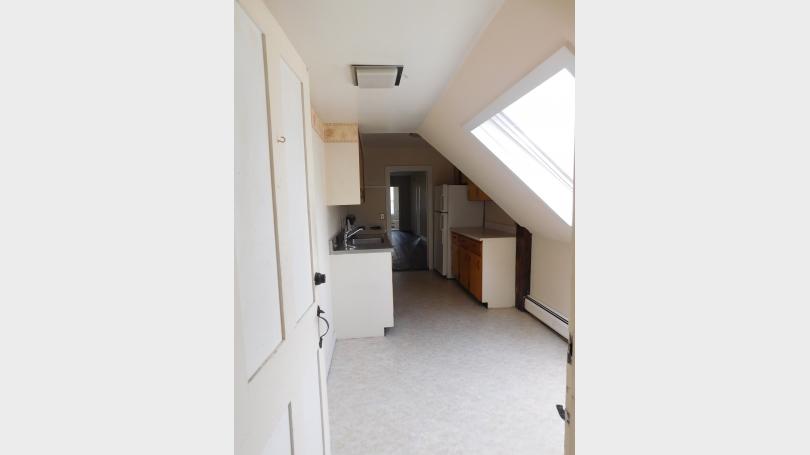 Kitchen entrance with skylight