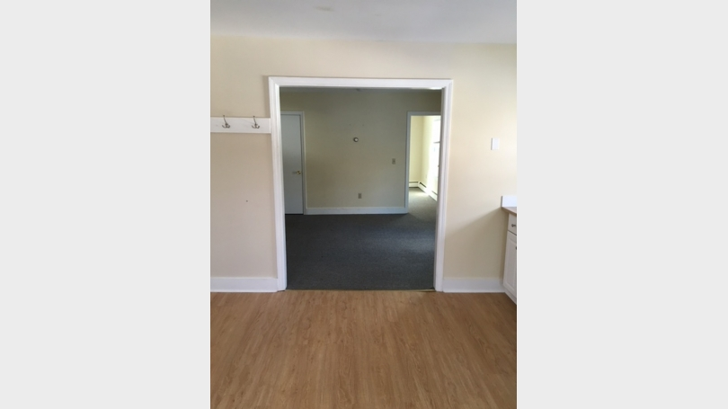 Kitchen into livingroom/bedroom
