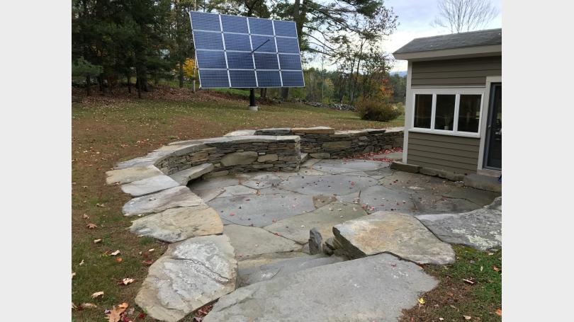 Patio and solar tracker