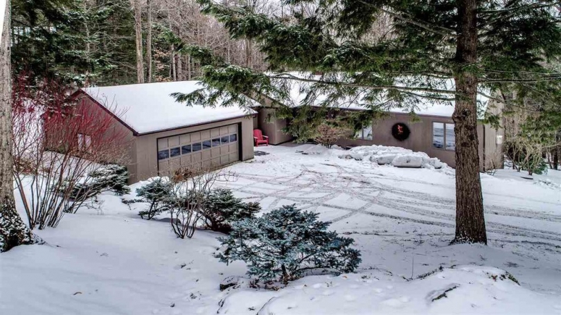 Ranch style house with 2 car attached garage, full walk out lower level